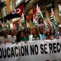 Hispaania õpetajad ja tudengid protestisid kasinuse vastu