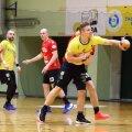 Sten Maasalu (palliga) tabas Viljandi HC kasuks viis korda, aga Vilniuse VHC Šviesa võttis Balti liigas võidu.