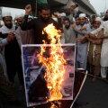 Macroni ja Prantsusmaa vastane meeleavaldus Pakistanis, Lahores