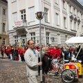 Laulu- ja tantsupeo kunstilised juhid Hirvo Surva ja Maido Saar TuleTulemise avatseremoonial.
