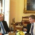 Välisminister Urmas Paet ja Soome president Sauli Niinistö.