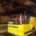 ФОТО: Возле латвийской границы полиция задержала пьяного водителя автобуса Таллинн-Рига, за руль села пассажирка