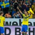 Sõpruskohtumine jalgpallis. Eesti-Rootsi