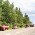 DELFI FOTOD   Pärnumaal süttis Lanksaare raba, paksu suitsu tõttu tuleb ka maanteel liiklejail olla ettevaatlik