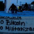 Bitcoini ametlikuks valuutaks muutumise eel toimused El Salvadori pealinnas San Salvadoris mitmed krüptoraha-vastased protestid