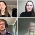 Eesti õpilased tõstmas esile oma õpetajaid.