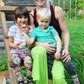 Heidi Hanso, lapsed, loomad, Pajuvärava talu, Sundimetsas