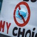 Maskivastaste meeleavaldus Vabaduse platsil novembris, kas täna enam kui 700 koroonasse surnu taustal on mõni neist oma meelt muutnud? Kindel igatahes see, et politsei veel niipea maski mittekandmise eest trahv teha ei saa.