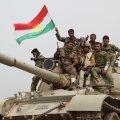 Kurdi regiooni lipuga sõdalased Kirkuki lähistel ISIS-ega vastamisi. 25. septembriks kavandavad Iraagi kurdid iseseisvusreferendumit.