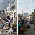 VÕRDLUSFOTOD: Indoneesia Sumatra saar India ookeani tsunami järel kümne aasta eest ning täna