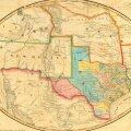 Kaart aastast 1851, kui osariikide piirid olid veel veidi ebaselged.