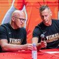 Viimsi peatreener Valdo Lips ja tegevjuht Tanel Einaste.