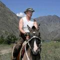Vladimir Putin ratsutamas