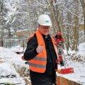 Juba tööde algusjärgus oli Merko Ehitus Eesti AS projektijuht Peeter Laidma veendunud, et suur veeprojekt saab õigel ajal või varemgi valmis. Foto on tehtud jaanuaris 2013.