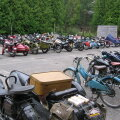 Mullune vanamootorrattaklubi Unic-Moto kokkutulek Häädemeestel.