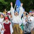Noorte laulu- ja tantsupeo rongkäik 2017