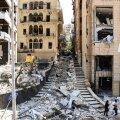 Koristustööd Liibanoni pealinnas Beirutis pärast teisipäevast plahvatust.