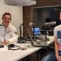 Karl Erik Nazarov ja Karl Rinaldo Manta Maja stuudios.