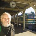 Enn Tarto kodulinna raudteejaama perroonil 2013. aasta oktoobris.