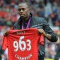 Usain Bolt Manchester Unitedi särgiga