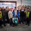 Maalehe hoidisekonkursi võitjad Pärnumaa Kutsehariduskeskusest koos konkursi korraldajatega Maalehest ning Põltsamaalt.