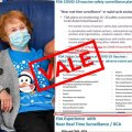 Vasakul on kujutatud ÜK esimene koroonavaktsiini saaja, 90-aastane  Margaret Keenan. Vaktsiinivastaste arvates võib teda nüüd ohustada näiteks insult, narkolepsia aga muuhulgas ka rasedus.