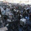 FOTOD ja VIDEO: Vaatluskeskus: Islamiriigi pommiplahvatused tapsid Süüria šiiidi pühamu juures 71 inimest