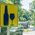 Alkoholi tarbimist lubavad märgid Tallinnas