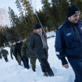 Peaminister Jüri Ratas, siseminister Katri Raik ja PPA peadirektor Elmar Vaher osalesid kagupiiri külastusel