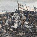 Kunstniku Karl Hansen Reistrupi (1898) nägemus Lindanise lahingust.