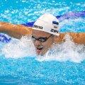 Kregor Zirk Tokyo olümpia 100 m liblikujumise eelvoorus.