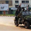 Valitsusvägede sõdurid Bangui tänavail.