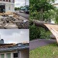 Väljavõtteid tormi käes kannatanud Pärnust.