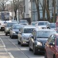 ФОТО: Строительство Рейди теэ привело к большим пробкам на улицах Кадриорга