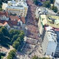 FOTOD/VIDEO: Vaata, kuidas nägi maratoni ajaks liiklusele suletud Tallinna kesklinn välja õhust!