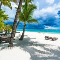 Trou aux biches, public beach at Mauritius islands, Africa