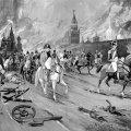 Moskva põleb: Napoleoni taganemine Venemaa pealinnast päädis linna mahapõletamisega. (Illustratsioon: Corbis / Scanpix)