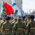 Pilt 9. mai paraadi ettevalmistustelt Peterburis möödunud neljapäeval