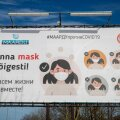 Maardu ja maskikandmise reklaam