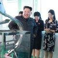 FOTOD | Kim Jong-un külastas koos naise ja õega kosmeetikavabrikut