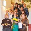 Rapla Keskraamatukogu kollektiiv juubeliõhtul. Foto: Armar Paidla