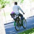 Jalgrattur lapsega