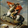 Bonaparte ületamas Alpi mägesid. (Autor Jacques-Louis David.)