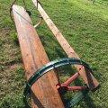 Vanad hobuniiduki rattad andsid idee teha aeda omanäoline istumispink.