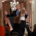 USA riigipea Donald Trump eile pressikonverentsil.