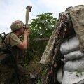 Украинский военный на позиции в Донбассе
