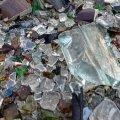 Klaasjäätmetest teelõik Kõrbjal