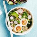 Misobrokoli muna ja kinoa salatiga