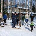 FOTOD: Nõmme vanameeste klubi korraldas puusuusapäeva