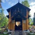 KAHTLUSTATAKSE SÜÜTAMIST: Jumalaema Kaasani Ikooni kirik Narva-Jõesuus möödunud nädalal pärast põlengut.